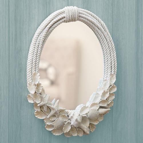 Atlantis Seashells Wall Mirror - BACKORDERED UNTIL 11/19/2021