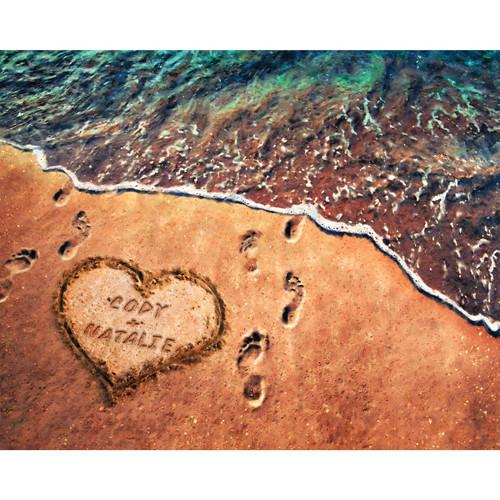 Seashore Love Personalized Art