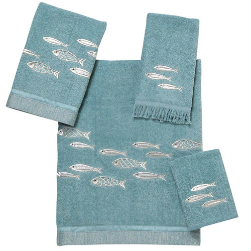 Shimmering Fish Towel Collection