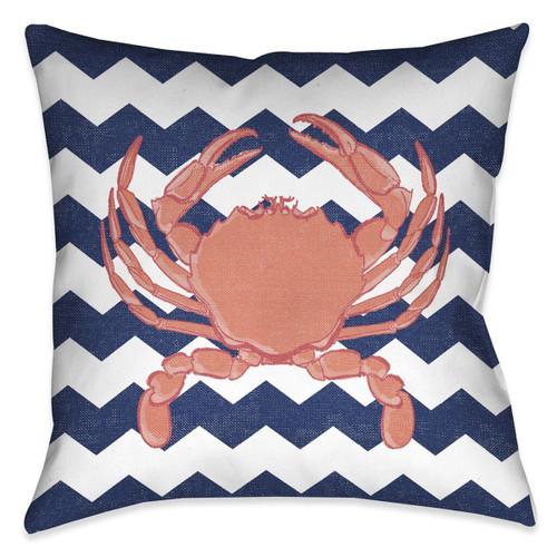 Beach Crab 18 x 18 Indoor Pillow