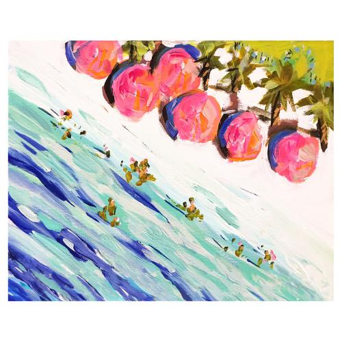 Beach Umbrellas Canvas Art