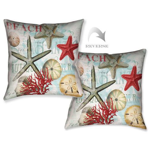 Beach Starfish Pillow