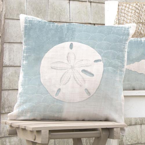Whitewashed Sand Dollar Pillow