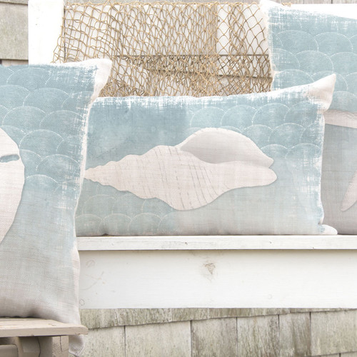 Whitewashed Shell Pillow