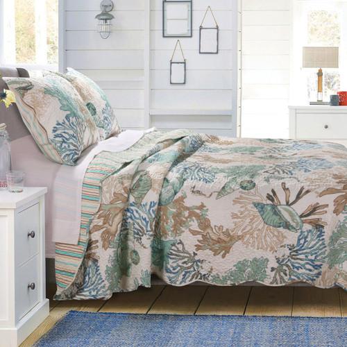 Aqua Reef Quilt Bedding Collection