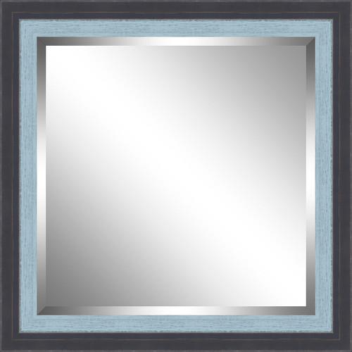 Beveled Blue and Sky Blue Framed Mirror
