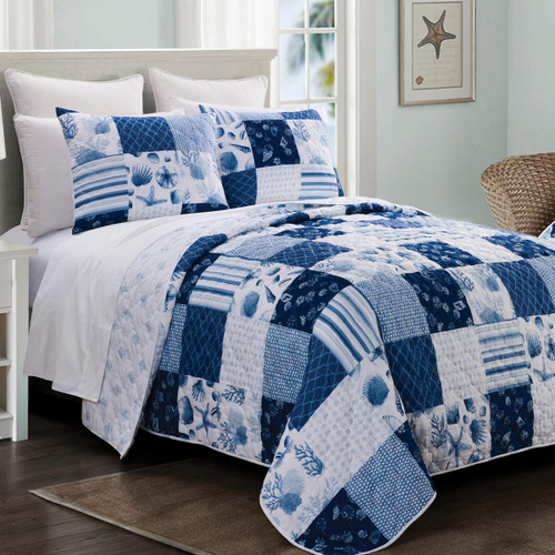 Azure Bay Quilt Bedding Collection