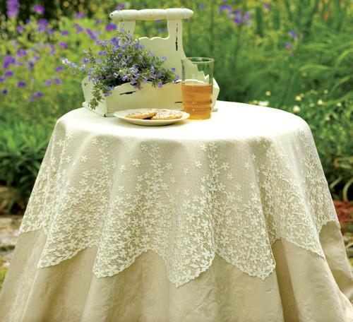 Blossom Ecru Lace Table Topper
