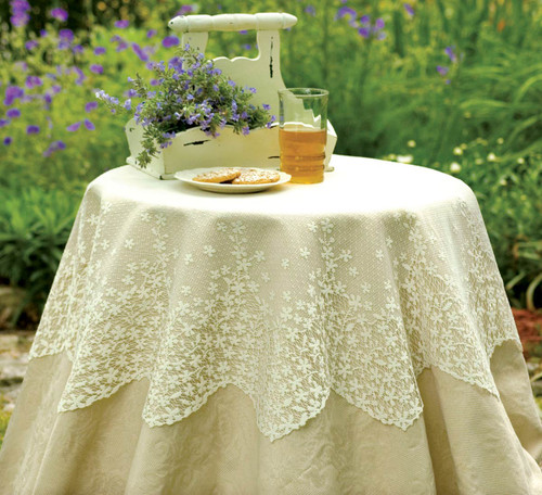 Blossom White Lace Table Topper
