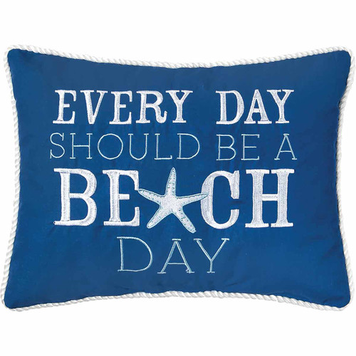 Blue Beach Day Pillow - OUT OF STOCK