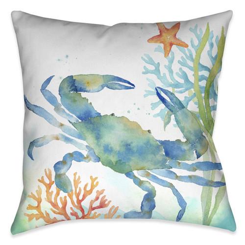 Blue Crab Crawl 18 x 18 Indoor Pillow