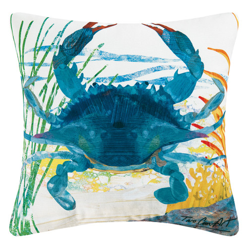 Blue Crab Indoor/Outdoor Pillow - OUT OF STOCK