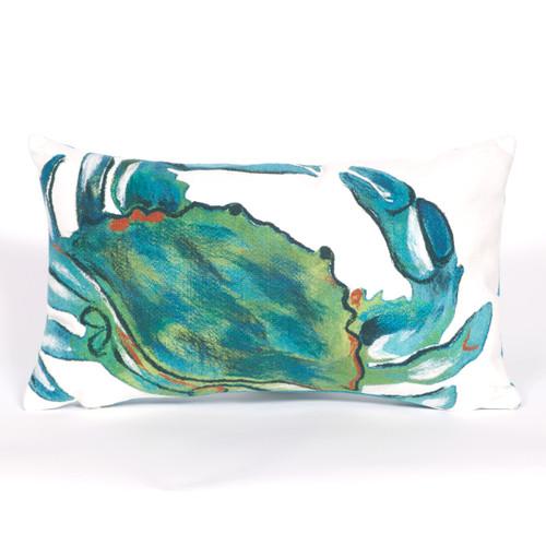 Blue Crab Sea Indoor/Outdoor Rectangle Pillow