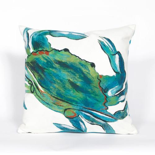 Blue Crab Sea Indoor/Outdoor Square Pillow