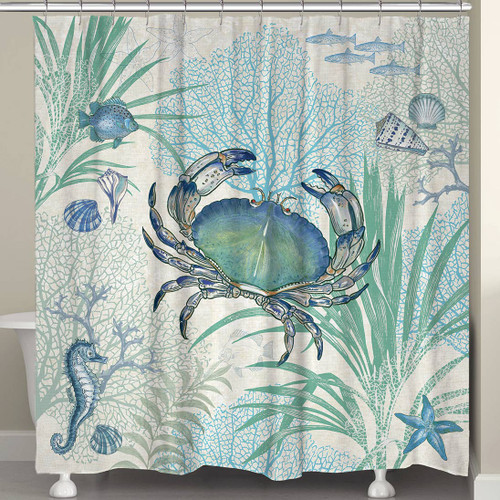 Blue Sea Life Shower Curtain
