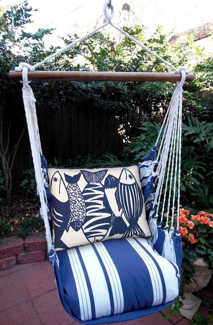Blue Fish Marina Stripe Swing Set