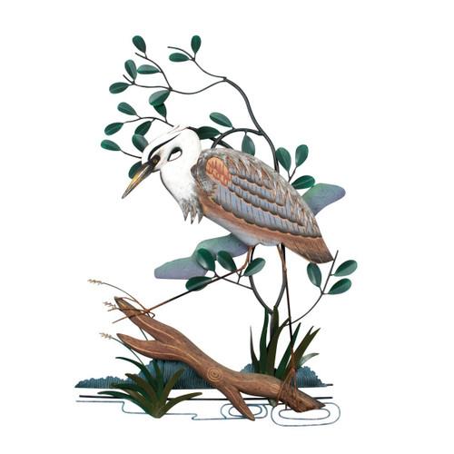 Blue Heron Metal Wall Art