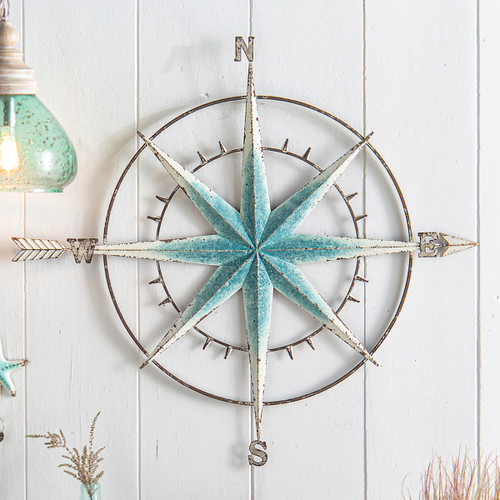 Blue Nautical Compass Wall Art - OUT OF STOCK UNTIL 3/2022