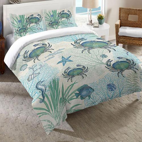 Blue Sea Life Comforter - Queen