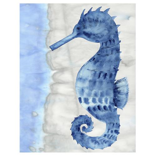Blue Seahorse Canvas Art