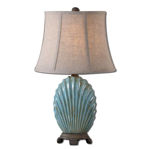 Blue Seashell Table Lamp