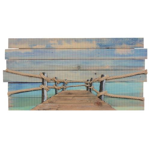 Boardwalk Pier Wood Wall Art