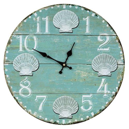 Boardwalk Seashells Wall Clock