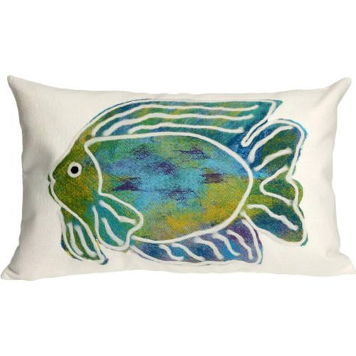 Boho Fishin' Rectangle Indoor/Outdoor Pillow