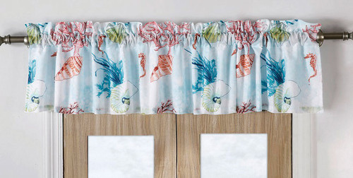 Bright Coral Reef Valance