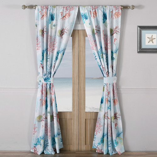 Bright Coral Reef Drapes - OVERSTOCK