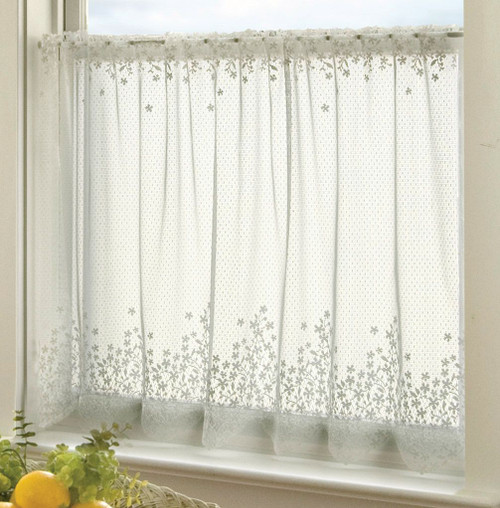 Blossom Ecru Lace Window Treatments