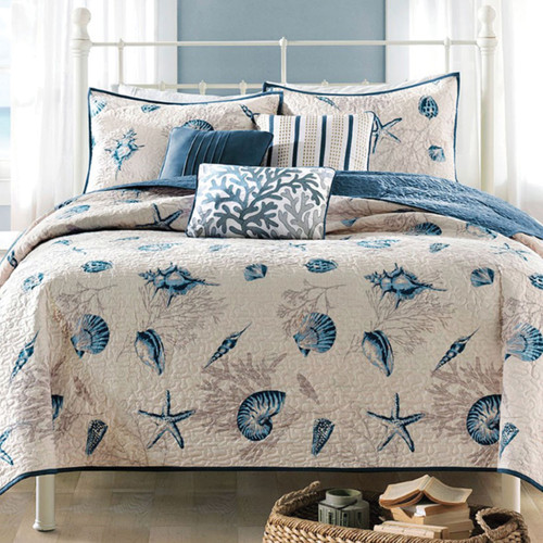 Blue Beach Bedding Collection