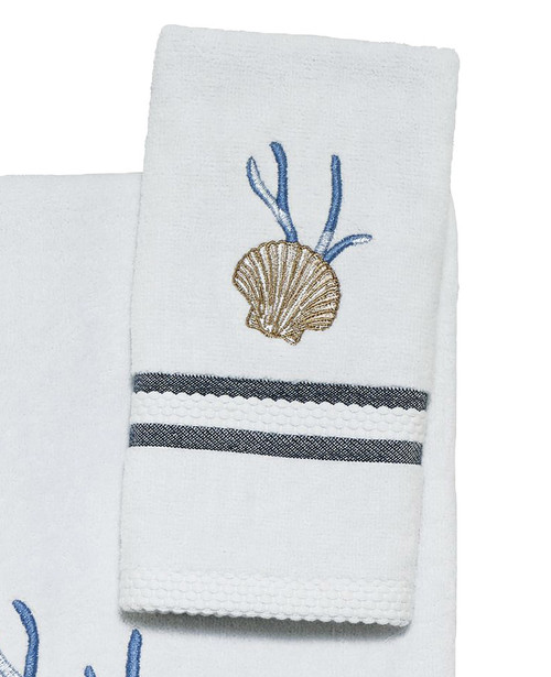 Camden Shells Coastal Fingertip Towel