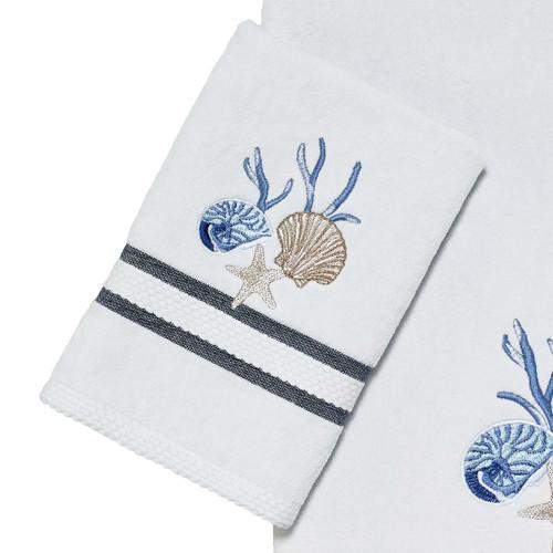 Camden Shells Coastal Hand Towel