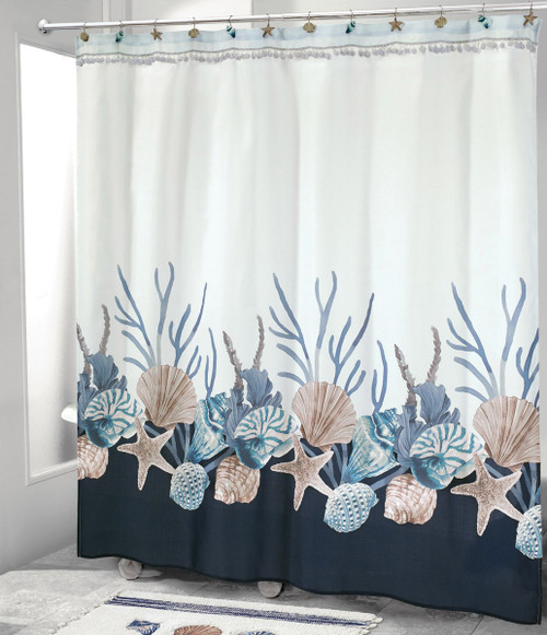 Camden Shells Coastal Shower Curtain