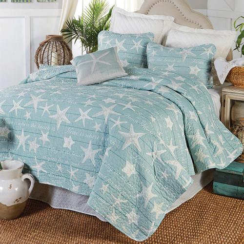 Boardwalk Starfish Quilt Bedding Collection