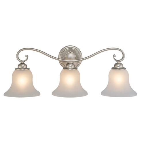 Cape 3 Light Vanity Lamp - Brushed Nickel