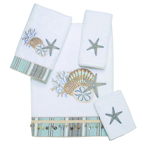Tranquil Sea White Towel Collection