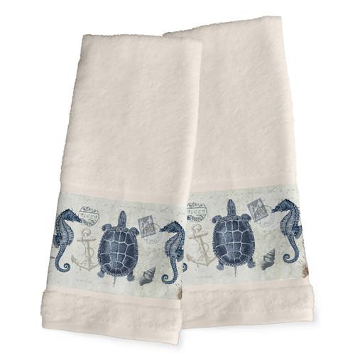Carte Postale Hand Towels - Set of 2