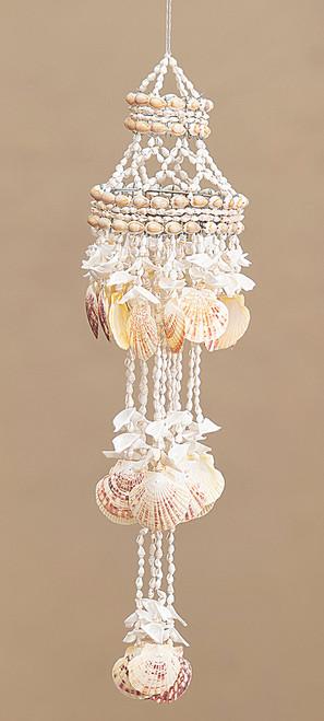 Cascading Seashells Hanging Canopy