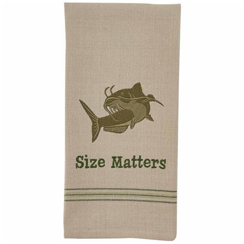 Catfish Size Embroidered Dishtowels - Set of 6