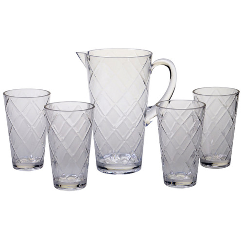 Clear Lattice Acrylic Glassware