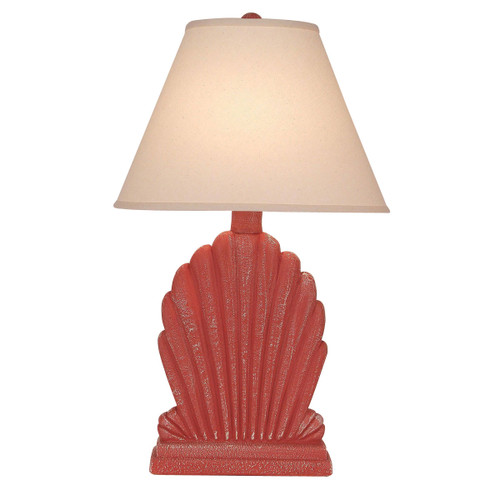 Weathered Coral Fan Shell Table Lamp