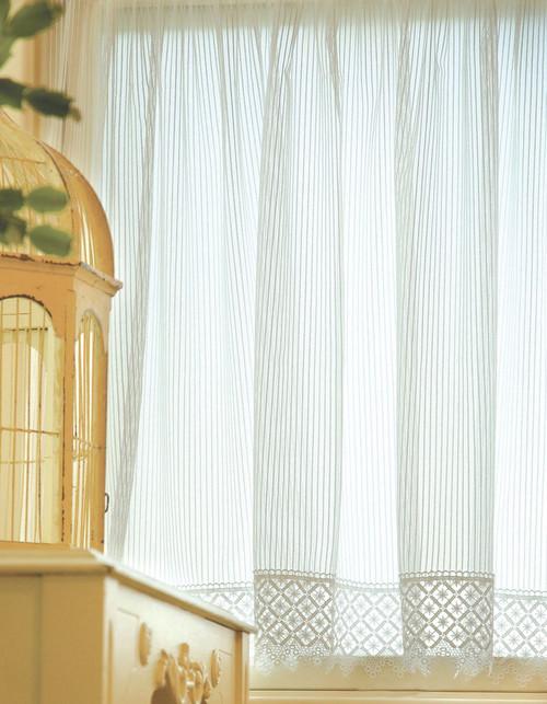 Chelsea Ecru Lace Window Treatments