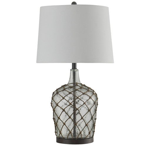 Clear Netted Jug Table Lamp