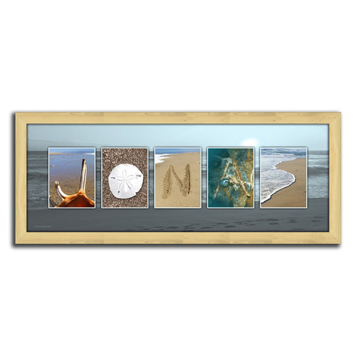 Ocean Name Personalized Framed Canvas