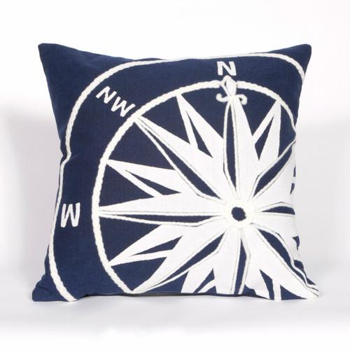 Compass Marine Indoor/Outdoor Square Pillow