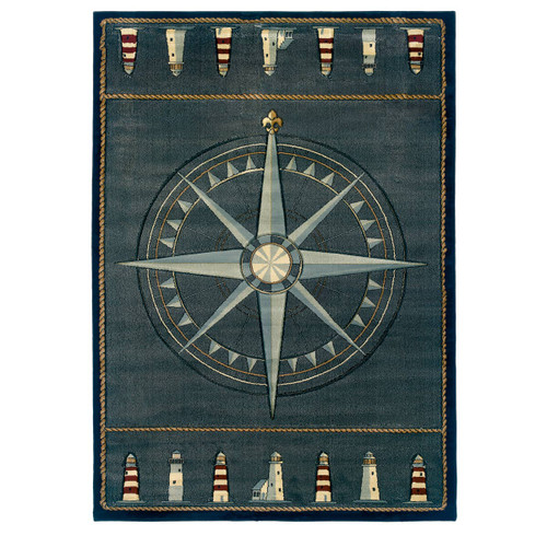 Maritime Guide Rug - 8 x 11 - OVERSTOCK