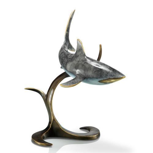 Contemporary Brass Shark Sculpture
