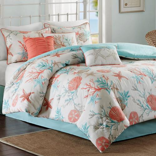 Coral & Aqua Reef Comforter Set - King